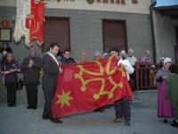 Salbertrand: la bandiera occitana - clicca per ingrandire.