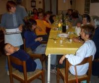 Scuola di patois di Salbertrand: merenda in località Ramats - clicca per ingrandire.