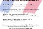 Rassegna in Lingua Francese, Visite guidate a Susa. Legge 482/99